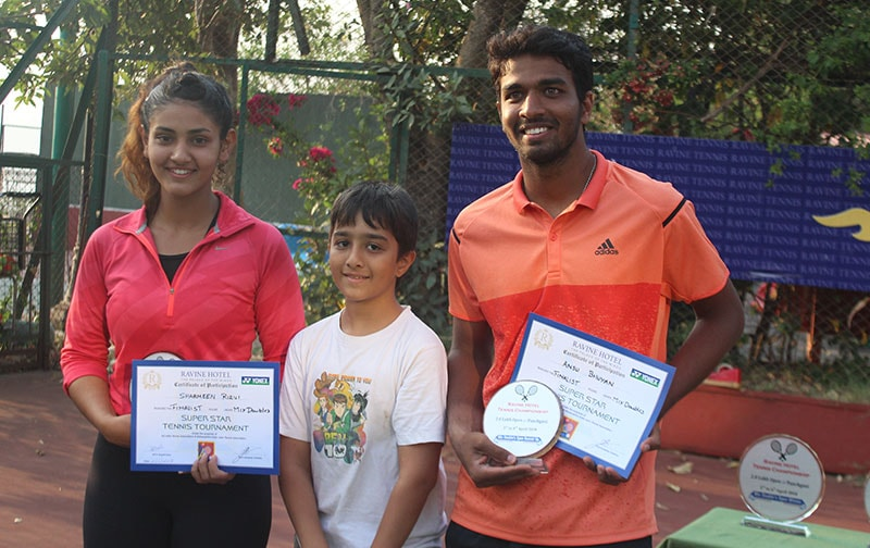Future Tennis Champ at Ravine Hotel for Prize Distribution
