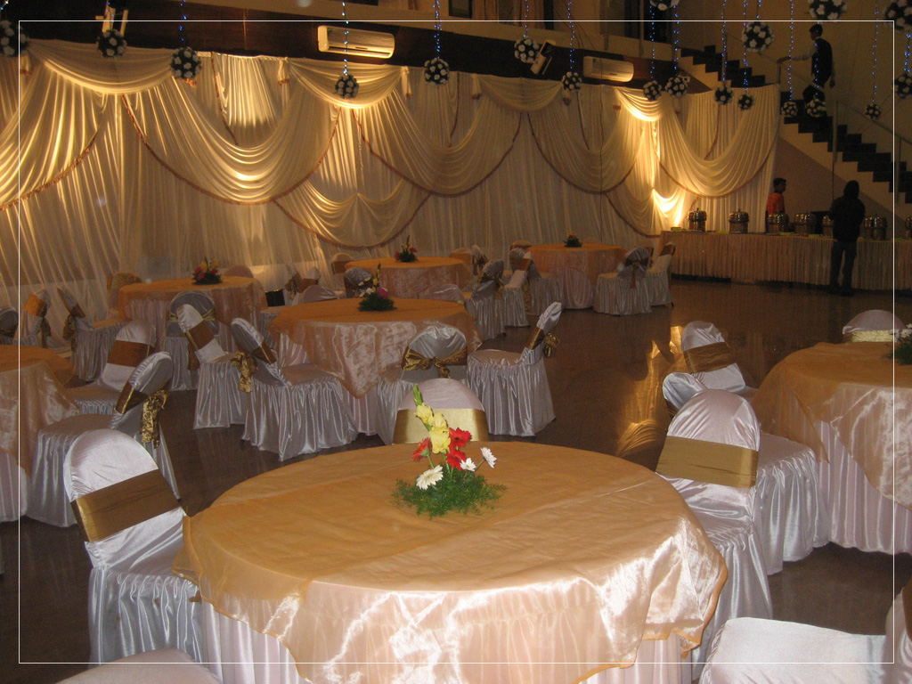 Setup in Hall for Wedding