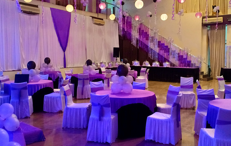 Birthday Party Setup in Hall