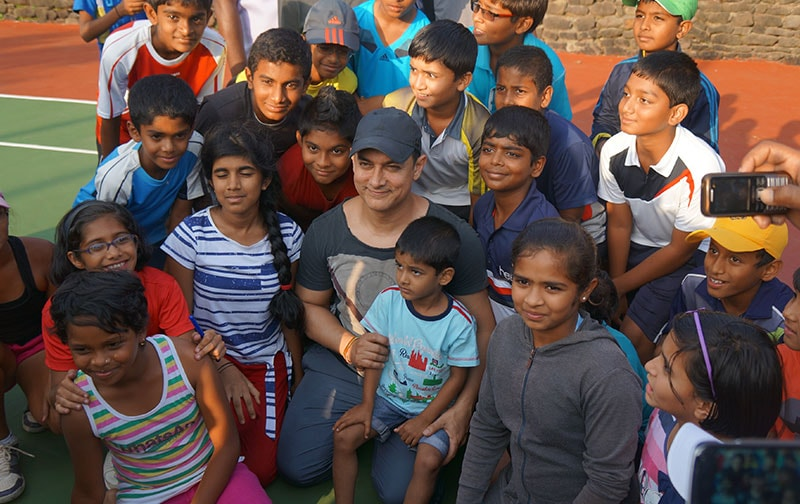 Aamir Khan with Tennis Champions