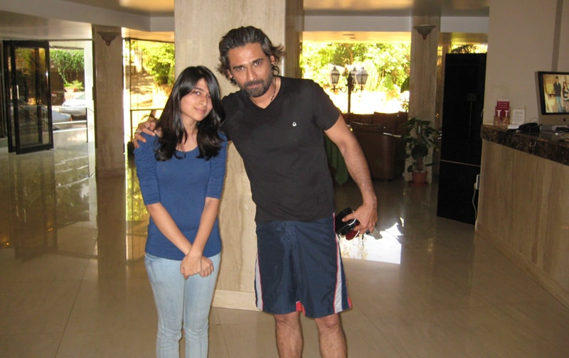 Here Mukul Dev is offering a nice pose for the camera… a hero pose not a villain one!