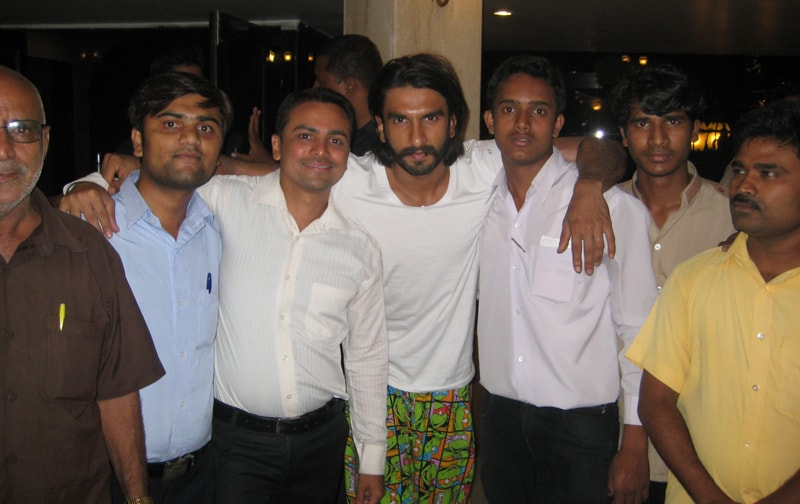 Ranbir Singh at Ravine Hotel With Hotel Staff