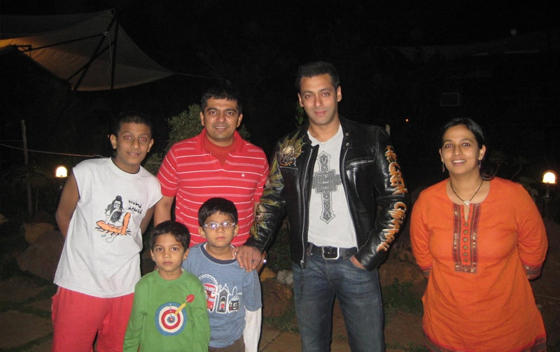 Salman Khan At Ravine Hotel