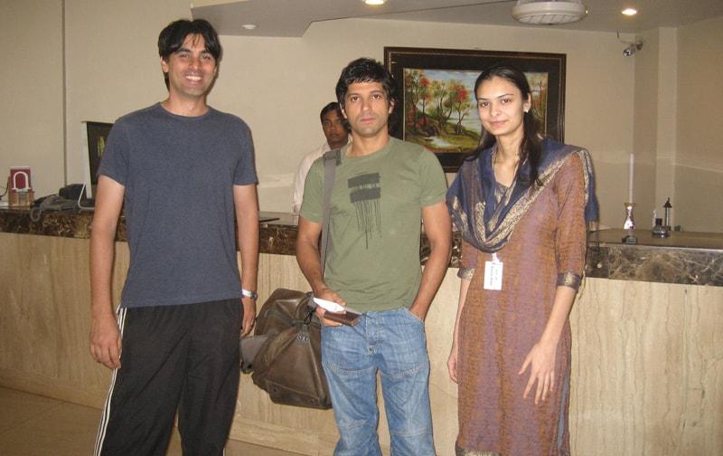 Farhan Akhtar At Ravine Hotel