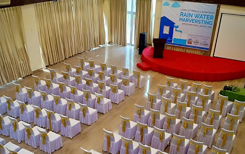 Hall Setup for Rain Water Harvesting Seminar