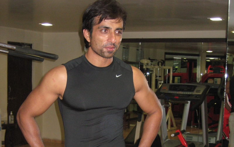 Sonu Sood working out in the state-of-the-art Gym.
